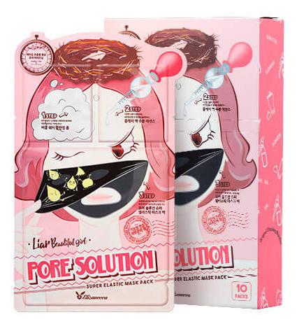 ELIZAVECCA Набор для проблемной кожи / Pore Solution Super Elastik Mask Pack 10*25 мл маска elizavecca gold cf nest collagen jella pack mask
