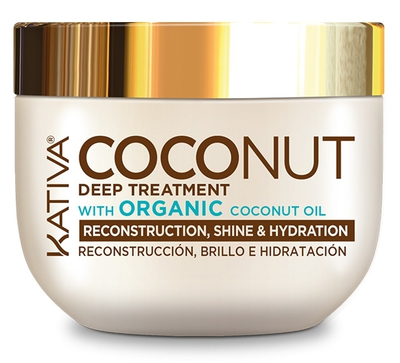 Купить KATIVA Маска восстанавливающая с органическим кокосовым маслом для поврежденных волос / COCONUT 250 мл