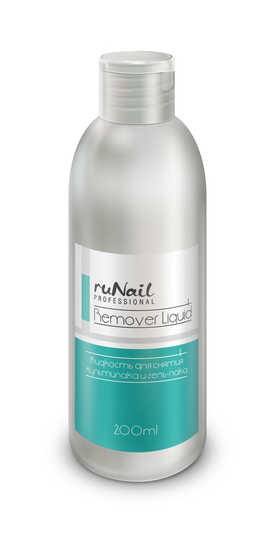 RuNail Жидкость для снятия мультилака и гель-лака 200 мл