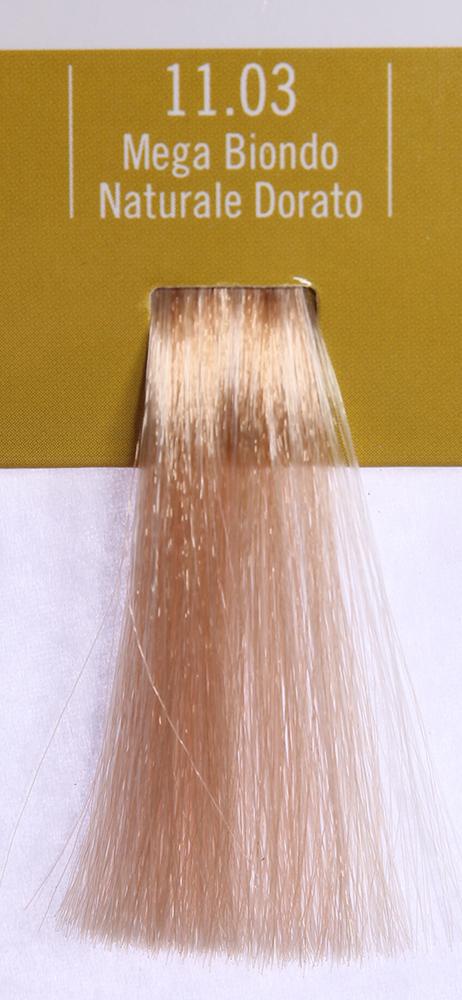 BAREX 11.03 краска для волос / PERMESSE 100млКраски<br>Оттенок: Ультрасветлый блондин натуральный золотистый. Профессиональная крем-краска Permesse отличается низким содержанием аммиака - от 1 до 1,5%. Обеспечивает блестящий и натуральный косметический цвет, 100% покрытие седых волос, идеальное осветление, стойкость и насыщенность цвета до следующего окрашивания. Комплекс сертифицированных органических пептидов M4, входящих в состав, действует с момента нанесения, увлажняя волосы, придавая им прочность и защиту. Пептиды избирательно оседают в самых поврежденных участках волоса, восстанавливая и защищая их. Масло карите оказывает смягчающее и успокаивающее действие. Комплекс пептидов и масло карите стимулируют проникновение пигментов вглубь структуры волоса, придавая им здоровый вид, блеск и долговечность косметическому цвету. Активные ингредиенты:&amp;nbsp;Сертифицированные органические пептиды М4 - пептиды овса, бразильского ореха, сои и пшеницы, объединенные в полифункциональный комплекс, придающий прочность окрашенным волосам, увлажняющий и защищающий их. Сертифицированное органическое масло карите (масло ши) - богато жирными кислотами, экстрагируется из ореха африканского дерева карите. Оказывает смягчающий и целебный эффект на кожу и волосы, широко применяется в косметической индустрии. Масло карите защищает волосы от неблагоприятного воздействия внешней среды, интенсивно увлажняет кожу и волосы, т.к. обладает высокой степенью абсорбции, не забивает поры. Способ применения:&amp;nbsp;Крем-краска готовится в смеси с Молочком-оксигентом Permesse 10/20/30/40 объемов в соотношении 1:1 (например, 50 мл крем-краски + 50 мл молочка-оксигента). Молочко-оксигент работает в сочетании с крем-краской и гарантирует идеальное проявление краски. Тюбик крем-краски Permesse содержит 100 мл продукта, количество, достаточное для 2 полных нанесений. Всегда надевайте подходящие специальные перчатки перед подготовкой и нанесением краски. Подготавливайте смесь крем-краски и молочка-ок