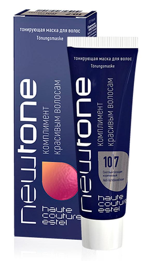 Купить ESTEL HAUTE COUTURE 10/7 маска тонирующая для волос, светлый блондин коричневый / NEWTONE 60 мл
