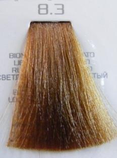 HAIR COMPANY 8.3 краска для волос / HAIR LIGHT CREMA COLORANTE 100млКраски<br>Профессиональная стойкая крем-краска для волос. Результат последних разработок ведущих специалистов и продукт высоких технологий. Профессиональная стойкая крем-краска Hair Light Crema Colorante богата натуральными ингредиентами и, в особенности, эксклюзивным мультивитаминным восстанавливающим комплексом. Новейший химический состав (с минимальным содержанием аммиака) гарантирует максимально бережное отношение к структуре волос. Применение исключительно активных ингредиентов и пигментов высочайшего качества гарантирует получение однородного и стойкого цвета, интенсивных и блестящих, искрящихся оттенков, кроме того, дает полное покрытие (прокрашивание) седых волос. Тона профессиональной стойкой крем-краски Hair Light Crema Colorante дают возможность парикмахеру гибко реагировать на любые требования, предъявляемые к окраске волос. Наличие 5 микстонов и нейтрального (бесцветного) микстона, позволяет достигать результатов окраски самого высокого уровня. Применение: Смешать Hair Light Crema Colorante с Hair Light Emulsione Ossidante в пропорции 1:1,5. Время воздействия 30-45 мин.<br><br>Цвет: Золотистый и медный<br>Объем: 100<br>Вид средства для волос: Стойкая<br>Класс косметики: Профессиональная