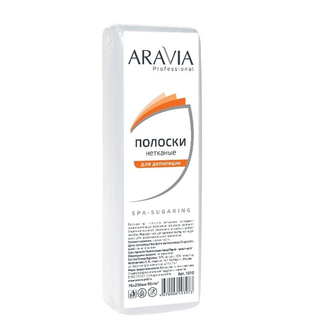 ARAVIA Полоски нетканые для депиляции (76*230 мм) / Professional 100 шт/уп 90 г -  Особые аксессуары
