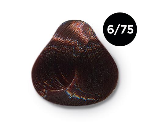 OLLIN PROFESSIONAL 6/75 краска для волос, темно-русый коричнево-махагоновый / OLLIN COLOR 60 мл