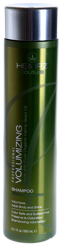 HEMPZ Шампунь для объема / Volumizing Shampoo 300млШампуни<br>Шампунь для ежедневного применения на основе масла и экстракта семян конопли, пантенола и протеинов сои для укрепления стержневой структуры волос, придающий объем, упругость и пышность волосам. Мягко очищает волосы и придает им дополнительный объём. Масло и экстракт семян конопли, протеины сои и пшеницы утолщают стержень волоса, формируя объем, питают и укрепляют структуру волос, делая их сильными, здоровыми и блестящими. UV защита препятствует выгоранию цвета окрашенных и натуральных волос. Аромат: Пачули и Пряные травы. Активные ингредиенты: Масло и экстракт семян конопли, гидролизированные протеины пшеницы и сои, пантенол, лимонная кислота Способ применения: Нанести на влажные волосы, хорошо вспенить, массируя кожу головы, тщательно смыть, при необходимости повторить. Для получения наилучшего результата используйте в комплексе с Кондиционером для объема HEMPZ Volumizing Conditioner или Несмываемым кондиционером HEMPZ Leave-In Detangler.<br><br>Типы волос: Для всех типов