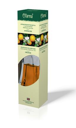 """ELFARMA Ароматизатор воздуха с натуральным эфирным маслом """"Апельсин"""" 90мл"""