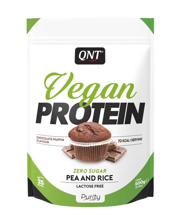 Купить QNT Добавка биологически активная к пище Веган протеин, шоколадный маффин / VEGAN PROTEIN Chocolate Muffin 500 г