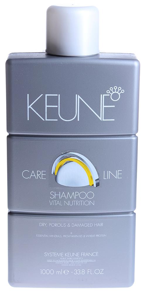 KEUNE Шампунь Кэе Лайн Основное питание / CL NUTRITION SHAMPOO 1000млШампуни<br>Мягкий шампунь для сухих, пористых и поврежденных волос. Технология Инъекции питания, Природные минералы, Провитамин В5 и Протеины Пшеницы питают волосы и восстанавливают баланс влажности. Придает волосам блеск и гибкость. Активный состав: Минералы, провитамин В5, протеины пшеницы. Применение: Нанести необходимое количество шампуня на волосы, массировать волосы. Тщательно сполоснуть. Снова нанести небольшое количество шампуня и массировать кончиками пальцев волосы и кожу головы в течение 2-х минут. Тщательно смыть.<br><br>Объем: 1000<br>Вид средства для волос: Питательный
