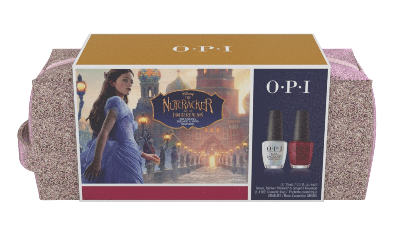 OPI Набор подарочный (косметичка + HRK02 + HRK11) / Nutcracker Nail Lacquer Duo Pack