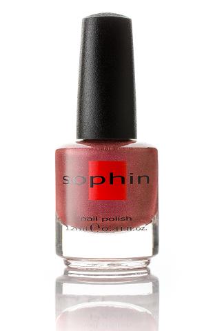 SOPHIN Лак для ногтей, шиммерный розово-золотистый 12млЛаки<br>Коллекция лаков SOPHIN очень разнообразна и соответствует современным веяньям моды. Огромное количество цветов и оттенков дает возможность создать законченный образ на любой вкус. Удобный колпачок не скользит в руках, что облегчает и позволяет контролировать процесс нанесения лака. Флакон очень эргономичен, лак легко стекает по стенкам сосуда во внутреннюю чашу, что позволяет расходовать его полностью. И что самое главное - форма флакона позволяет сохранять однородность лаков с блестками, глиттером, перламутром. Кисть средней жесткости из натурального волоса обеспечивает легкое, ровное и гладкое нанесение. Big5free! Активные ингредиенты. Состав: ethyl acetate, butyl acetate, nitrocellulose, acetyl tributyl citrate, isopropyl alcohol, adipic acid/neopentyl glycol/trimellitic anhydride copolymer, stearalkonium bentonite, n-butyl alcohol, styrene/acrylates copolymer, silica, benzophenone-1, trimethylpentanedyl dibenzoate, polyvinyl butyral.<br><br>Цвет: Розовые