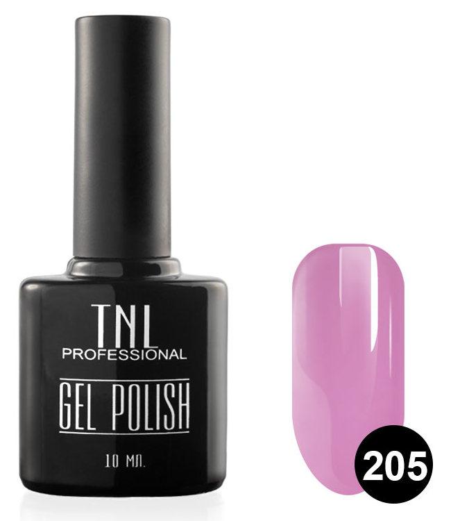 TNL PROFESSIONAL 205 гель-лак для ногтей, фуксия 10 мл