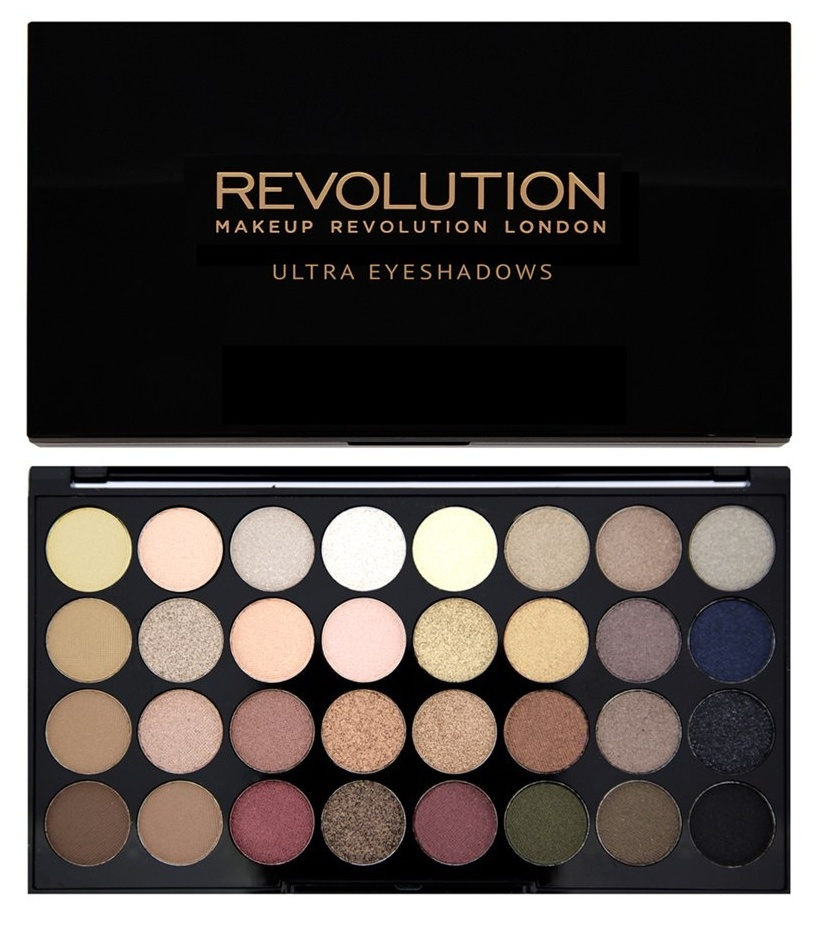 MAKEUP REVOLUTION Палетка теней для век / 32 ULTRA EYESHADOWS Flawless