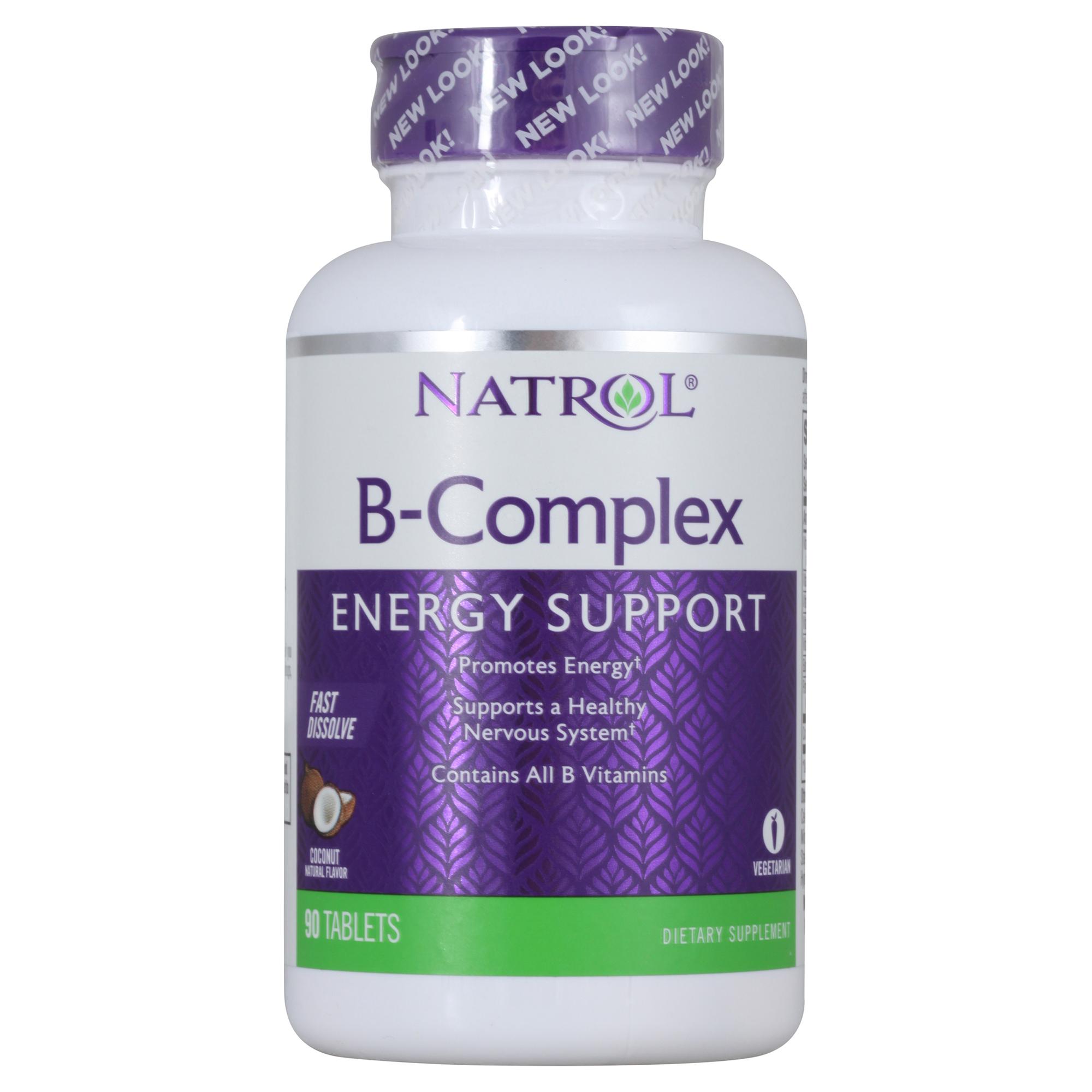 Купить NATROL Добавка биологически активная к пище B-комплекс / B-Complex F/D 90 быстрорастворимых таблеток