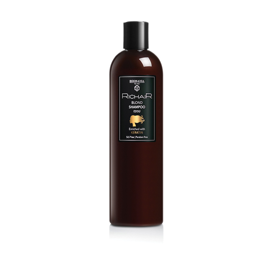 EGOMANIA Шампунь для осветлённых и обесцвеченных волос c Кератином / RICHAIR 400 мл egomania egomania шампунь для обесцвеченных волос kernox mix blond 493414 250 мл