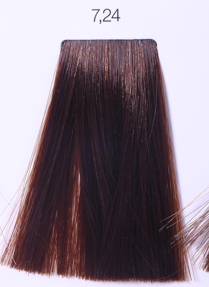 LOREAL PROFESSIONNEL 7.24 краска для волос / ИНОА ODS2 60грКраски<br>INOA - первый краситель, позволяющий достичь желаемых результатов окрашивания, окрашивать тон в тон, осветлять волосы на 3 тона, идеально закрашивает седину и при этом не повреждает структуру волос, поскольку не содержит аммиака. Получить стойкие, насыщенные цвета позволяет инновационная технология Oil Delivery System (ODS) система доставки красителя при помощи масла. Благодаря удивительному действию системы ODS при нанесении, смесь, обволакивая волос, как льющееся масло, проникает внутрь ткани волос, чтобы создать безупречный цвет. Уникальность системы ODS состоит также в ее умении обогащать структуру волоса активными защитными элементами, который предотвращает повреждения и потерю цвета.  После использования красителя окислением без аммиака Inoa 4.20 от LOreal Professionnel волосы приобретают однородный насыщенный цвет, выглядят идеально гладкими, блестящими и шелковистыми, как будто Вы сделали окрашивание и ламинирование за одну процедуру.  Способ применения: Приготовьте смесь из красителя Inoa ODS 2 и Оксидента Inoa ODS 2 в пропорции 1:1. Нанесите смесь на сухие или влажные волосы от корней к кончикам. Не добавляйте воду в смесь! Подержите краску на волосах 30 минут. Затем тщательно промойте волосы до получения чистой, неокрашенной воды.<br><br>Цвет: Блонд<br>Типы волос: Для всех типов