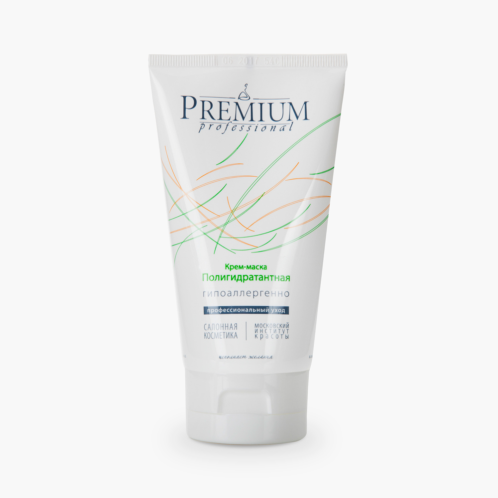 PREMIUM Крем-маска Полигидратантная / Professional 150млМаски<br>Рекомендуется для ухода за увядающей кожей лица и шеи. Основными биоактивными компонентами являются хлориды кальция, натрия и калия и экстракт хмеля. Основа препарата представлена натуральными жировыми ингредиентами. Обеспечивает увлажняющий эффект,&amp;nbsp;повышая эластические свойства и барьерные функции кожи. При курсовом применении разглаживается сеть морщин. Активные ингредиенты: экстракт хмеля, масла: кукурузы, какао, карите, пчелиный воск, ланолин, хлориды: кальция, натрия, калия. Способ применения: нанести после очищения и тонизирования в виде маски на 15-20 мин, остатки промокнуть салфеткой. Применять 2-3 раза в неделю, курс - 15 масок с повторением через 6 месяцев. Возможно использование в качестве крема.<br><br>Тип: Крем-маска<br>Объем: 150<br>Назначение: Морщины