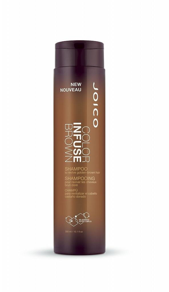 JOICO Шампунь тонирующий для поддержания коричневых оттенков / COLOR INFUSE 300 млШампуни<br>Идеальный теплый коричневый Оживите ваши роскошные темные пряди с новым шампунем и кондиционером Color Infuse Brown. Формула создана специально для того, чтобы придать вашим волосам гламурное теплое сияние и насыщенный цвет. Не окрашивая высветленные пряди, шампунь и кондиционер добавляют теплый золотистый тон в волосы брюнеток (светлых и средних тонов). Идеальная пара для освежения цвета как натуральных, так и окрашенных волос. Активные ингредиенты: Anionic Dye Technology: эксклюзивная технология, позволяющая пигменту прикрепляться к стержню волоса и не вымываться в течение нескольких процедур мытья головы. Multi-Spectrum Defense Complex: зеленый чай, антиоксиданты и солнцезащитные фильтры одновременно борются со всеми факторами окружающей среды, которые вызывают потускнение и вымывание цвета. Bio-Advanced Peptide Complex : мощный запатентованный реконструирующий комплекс JOICO, который восстанавливает поврежденные волосы и препятствует их повторному повреждению до 25 процедур мытья головы. Состав: Aqua, Sodium Laureth Sulfate, Cocamide Mipa, Cocamidopropyl, Betaine, Glycol Stearate, Pentapeptide-30, Cysteinamide, Pentapeptide-29 Cysteinamide, Tetrapeptide-29 Argininamide, Tetrapeptide-28 Argininamide, Hydrolized Keratin, Cocodimonum Hydroxypropyl Hydrolized Keratin, Panthenol, Camellia Sinensis Leaf Extract, Laureth-12, Guar Hydroxypropyltrimonium Chloride, PEG/PPG-4/12 Dimetjicone, Polyquaternium-11, Citric Acid, Tetrasodium EDTA, PPG-12-Buteth-16, Ethylhexyl Salicylate, Ethylhexyl Methoxycinnamate, Polyamide-2, Butylene Glycol, Methylparaben, Propylparaben, Imidazolidinyl Urea, PEG-6 Caprylic/Capric Glycerides, PEG-150 Pentaerythrotyl Tetrastearate, Sodium Chloride, Limonene, Linalool, Fragrance/Parfum, Orange 4 (CI 15510), Ext. Violet 2 (CI 60730), Yellow 5 (CI 19140), Blue 1 (CI 42090) Способ применения: Нанесите на мокрые волосы, вспеньте. Оставьте на 1-3 минуты. Смой