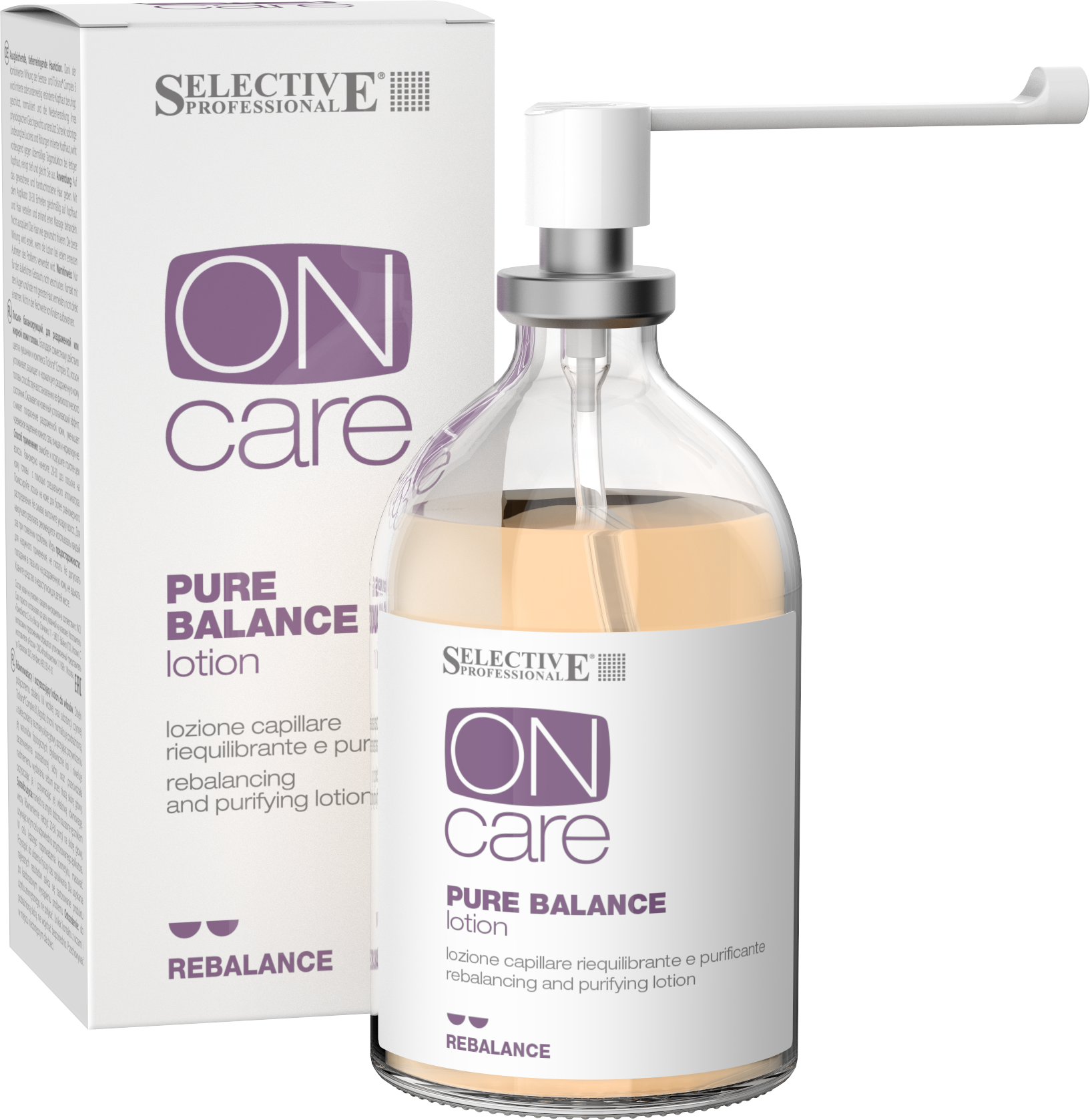 SELECTIVE PROFESSIONAL Лосьон балансирующий, для раздраженной или жирной кожи головы / On Care Rebalance 100 мл лосьон selective professional stimulate intense lotion
