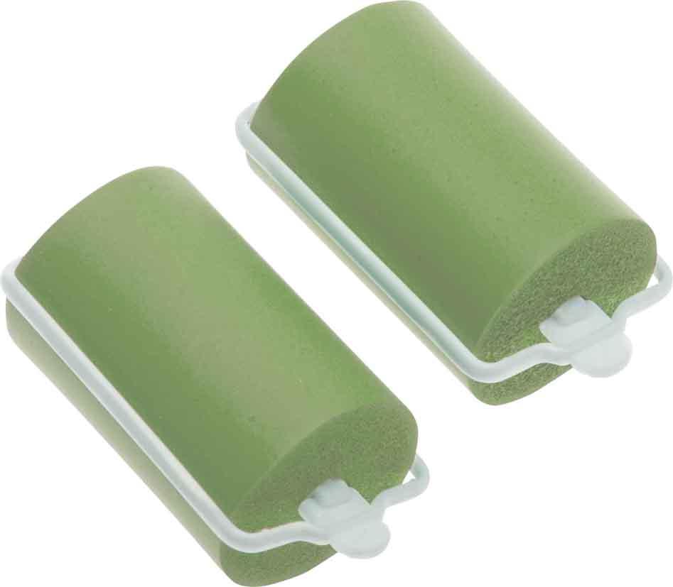 DEWAL BEAUTY Бигуди резиновые зеленые, d 38x70 мм 10 шт