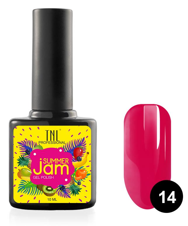 Купить TNL PROFESSIONAL 14 гель-лак для ногтей, фуксия / Summer Jam 10 мл, Красные