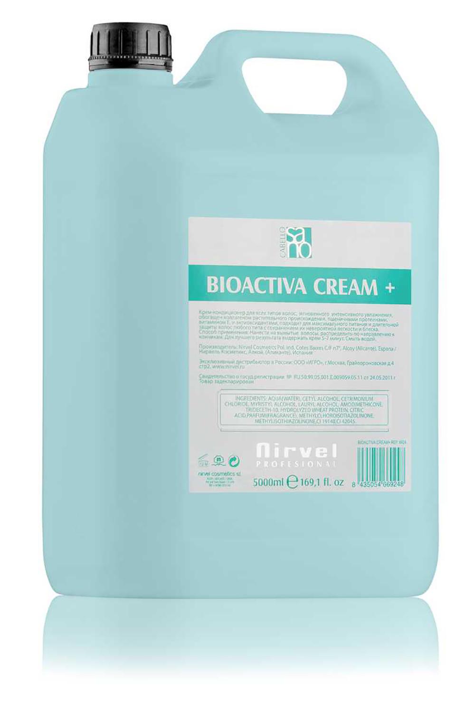 NIRVEL PROFESSIONAL Крем-кондиционер питательный с протеинами пшеницы для всех типов волос / BIOACTIVE CREAM PLUS 5000 мл  - Купить