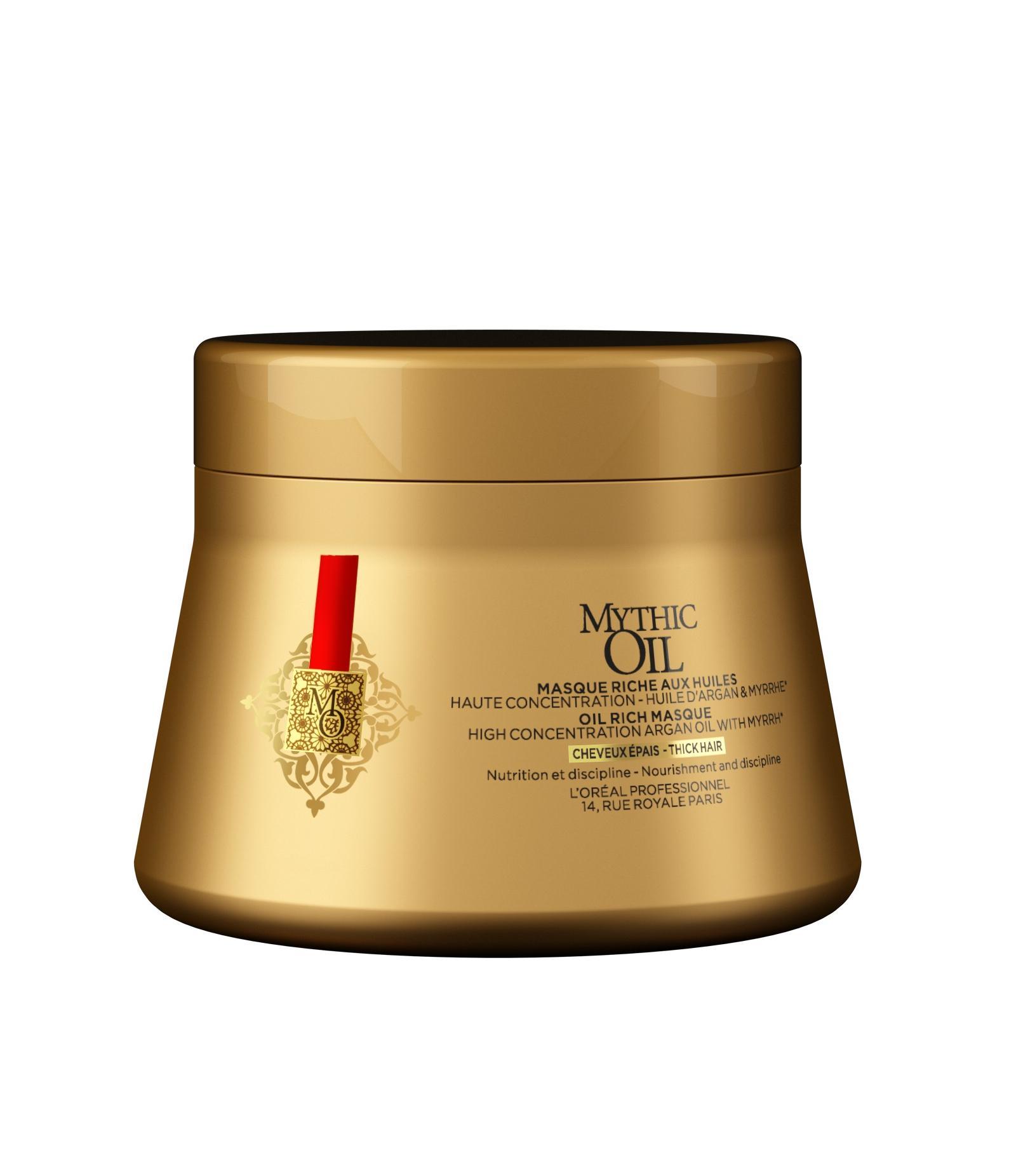 LOREAL PROFESSIONNEL Маска для плотных волос / MYTHIC OIL 250 млМаски<br>Loreal Mythic Oil Маска для толстых волос. Усиление блеска защита и питание для толстых, непослушных волос. Маска с высокой концентрации арганового масла. Обогащенная экстрактом мирры. Обеспечивает волосам мгновенное глубокого питание. Заметно улучшает текстуру волос, облегчает укладку и придает максимальный блеск. Протестировано под дерматологическим контролем. Не содержит парабенов. Активные ингредиенты: аргановое масло и экстракт мирры. Способ применения: нанесите на чистые влажные волосы с середины до кончиков. Оставьте на 3 минуты. Тщательно смойте.<br>