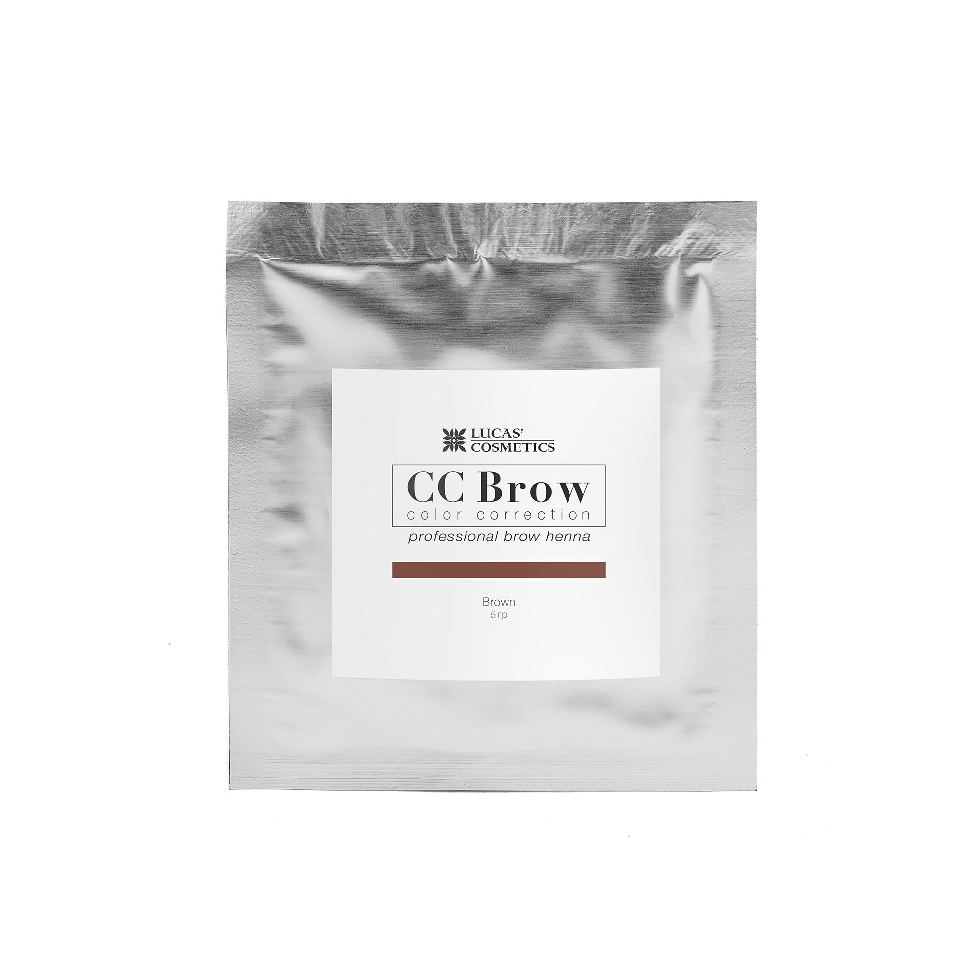 LUCAS' COSMETICS Хна для бровей в саше (коричневый) / CC Brow (brown), 5 гр