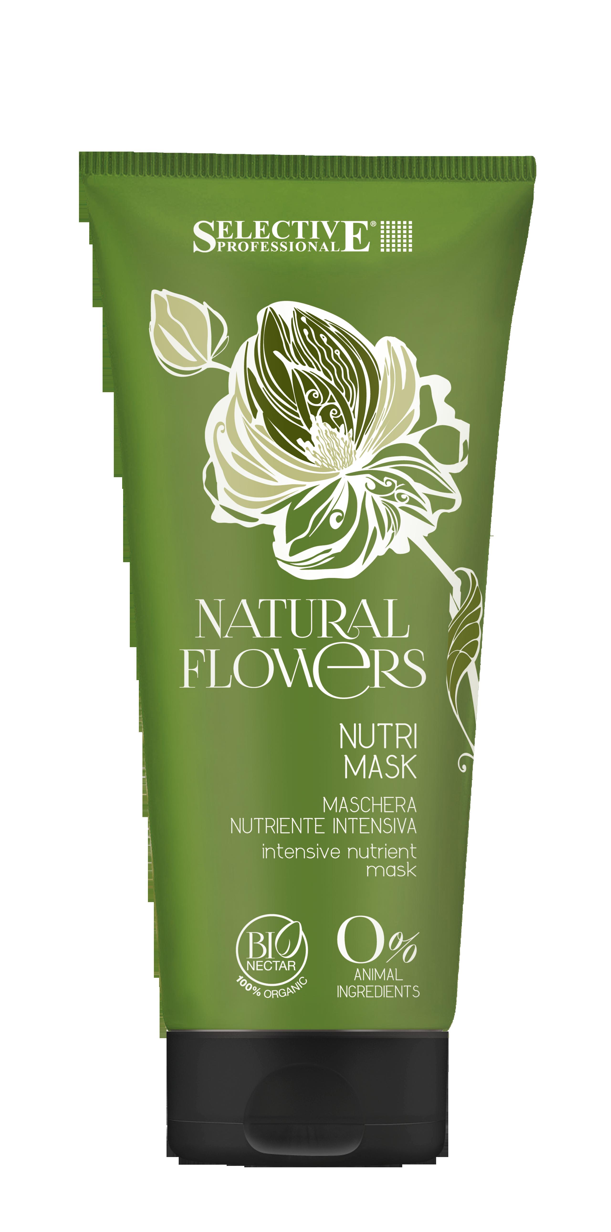 SELECTIVE PROFESSIONAL Маска питательная для восстановления волос / Nutri Mask Natural Flowers 200мл brelil professional hair juice nutri mask