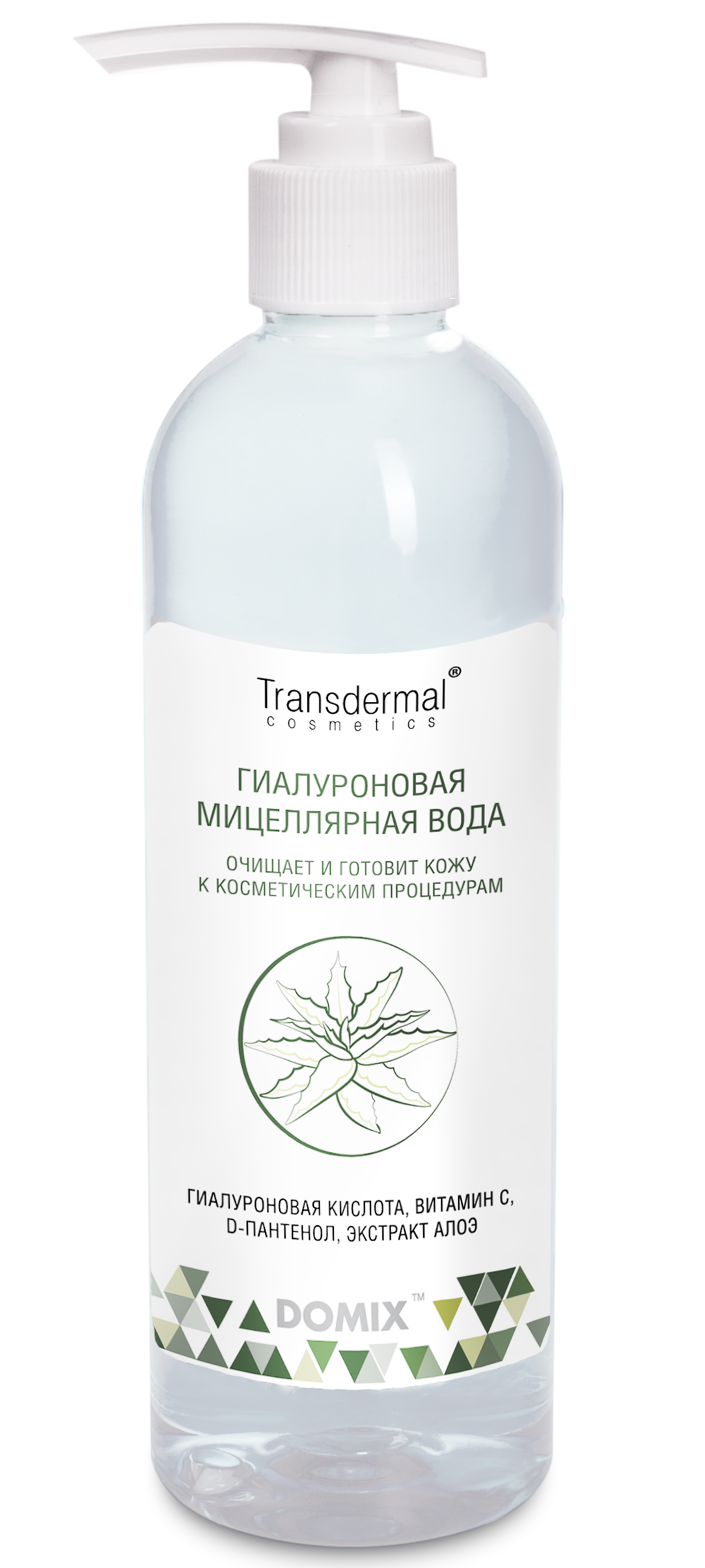 DOMIX GREEN PROFESSIONAL Вода мицеллярная гиалуроновая / Transdermal Cosmetics 250 мл фото