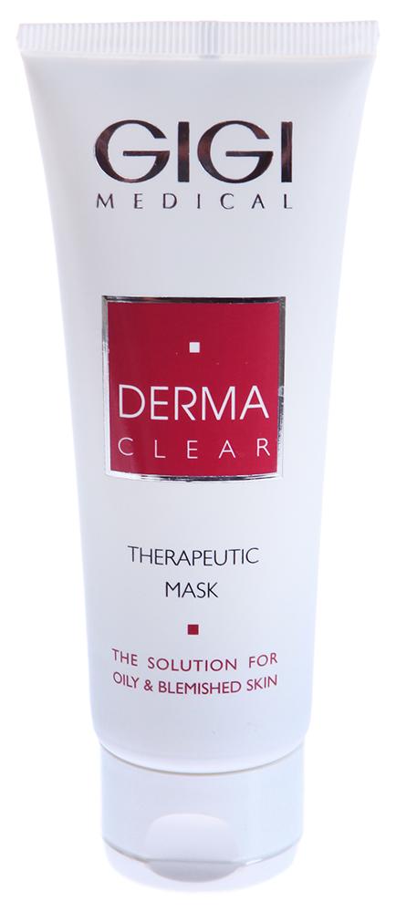 GIGI Маска терапевтическая / Therapeutic Mask DERMA CLEAR 75млМаски<br>Многофункциональный состав этой великолепной терапевтической маски позволяет оказывать разносторонние эффекты на кожу и применять ее для эффективной коррекции многих специфических проблем. Благодаря противовоспалительному, противомикробному, кератолитическому и себостатическому действию (блокирует фермент 5а-редуктазу), маска эффективно воздействует при местном лечении акне легкой и средней степени тяжести. Каолин и карбонат магния адсорбируют излишки кожного жира, глубоко очищают поры, устраняют жирный блеск, оказывают поростягивающее действие, не пересушивая кожу. Экстракты кипрея, гамамелиса, ромашки, аллантоин и бисаболол подавляют выработку медиаторов воспаления, оказывают иммуномоделирующее, себорегулирующее, заживляющее и противоотечное действия, успокаивают кожу, снимают раздражение, нормализуют рН кожи. В связи с чем, маска идеальна после проведения глубокой чистки кожи, для чувствительной и куперозной кожи, при местном лечении розацеа, периорального дерматита. Комплекс АНА, ВНА и азелаиновой кислоты стимулирует клеточное обновление, увлажняет, осветляет застойные и пигментные пятна, повышает упругость и эластичность, выравнивает рельеф и способствует омоложению кожи. За счет охлаждающих и успокаивающих компонентов замечательно снимает отечность и раздражение, оказывает анальгезирутощий эффект.  Активные ингредиенты: Азелаиноеая кислота, салициловая кислота, сепиконтроль, пиритионат цинка, оксид цинка, каолин, карбонат магния, кипрей узколистный, биосера, молочная кислота, экстракты ромашки и гамамелиса, глюкоза, аллантоин, бисаболол.  Применение: Нанести маску средним слоем на лицо на 15-20 мин. Затем смыть прохладной водой.<br><br>Объем: 75