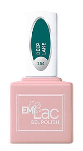 Купить E.MI 254 GL гель-лак для ногтей, Глубокое озеро / E.MiLac 6 мл, Зеленые