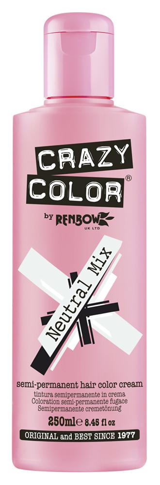 CRAZY COLOR Краска для волос (нейтральный прозрачный) / Crazy Color Neutral Mix, 250 мл