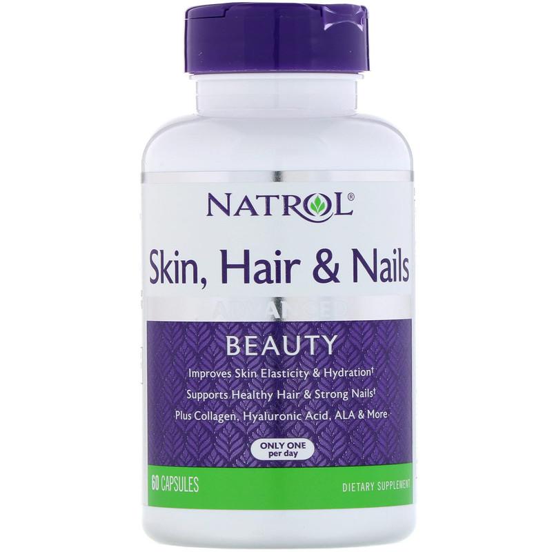 Купить NATROL Добавка биологически активная к пище Кожа, волосы, ногти с лютеином / Skin Hair & Nails with Lutein 60 капсул