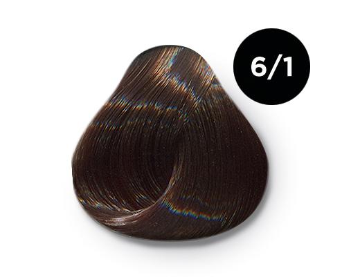 Купить OLLIN PROFESSIONAL 6/1 краска для волос, темно-русый пепельный / OLLIN COLOR 100 мл