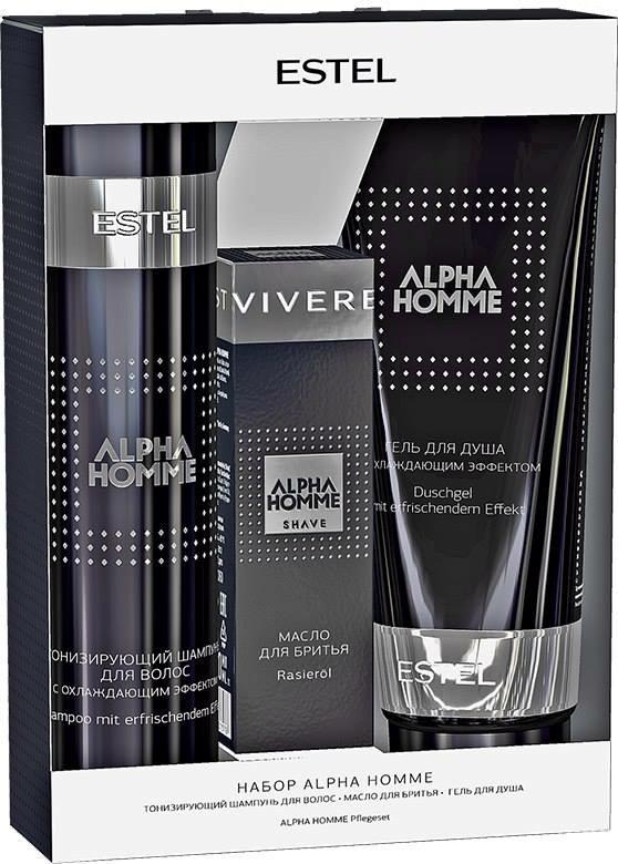 ESTEL PROFESSIONAL Набор для волос (шампунь + масло + гель) / Alpha Homme estel professional набор для волос шампунь бальзам гель скраб chocolatier forastero