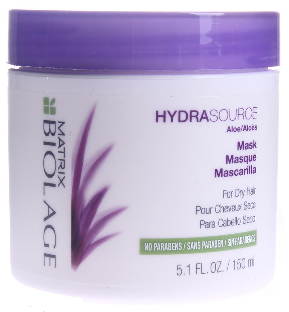 MATRIX Маска увлажняющая для сухих волос / БИОЛАЖ ГИДРАСУРС 150млМаски<br>Сухие волосы часто выглядят тусклыми и недисциплинированными. Вдохновленная способностью алоэ удерживать влагу надолго, Маска Биолаж ГидраСурс помогает оптимизировать гидробаланс сухих волос, восстанавливая их здоровый вид. Увлажняющая маска мгновенно и глубоко разглаживает волосы, увлажняет, придавая им блеск и послушность. Формула без парабенов подходит для окрашенных волос. Рекомендована для тонких и нормальных волос. Активные ингредиенты: экстракт алоэ. Способ применения: нанести на влажные волосы, оставить на 3-5 мин. Тщательно смыть. В случае попадания в глаза немедленно промыть водой. Использовать 1-2 раза в неделю вместо увлажняющего кондиционера Гидрасурс.<br><br>Вид средства для волос: Увлажняющий