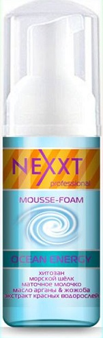 """NEXXT professional Суфле для волос """"Глубокое увлажнение и питание"""" / MOUSSE-FOAM OCEAN ENERGY 150мл"""
