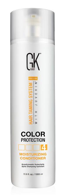 GKHair (Global Кеratin) Кондиционер увлажняющий с защитой цвета волос / Moisturizing Conditioner Color Protection 1000 мл -  Кондиционеры