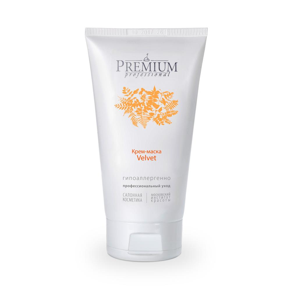 PREMIUM Крем-маска Velvet / Professional 150млМаски<br>Препарат с выраженным поросужающим и матирующим эффектом для жирной, комбинированной и проблемной кожи. Способствует снижению темпа и уровня секреции кожного сала. Эффективно устраняет жирный блеск, улучшает микроциркуляцию и цвет кожи,&amp;nbsp;освежает, делает кожу бархатистой.&amp;nbsp; Активные ингредиенты: сапропель, глина белая, Evermat (себостатический комплекс), салициловая кислота, ментол, гидролизат коллагена, гидролизат эластина, масло кукурузы, оксид цинка. Способ применения: наносить после очищения, на этапе интенсивного ухода, в ввиде маски на 10-15 мин. Смывать прохладной водой. Применять 2-3 раза в неделю, на курс 15-20 масок с повторением через 6 месяцев.<br><br>Тип: Крем-маска<br>Объем: 150<br>Вид средства для лица: Матирующий<br>Назначение: Жирный блеск