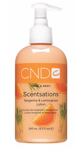 CND Лосьон для рук и тела Мандарин &amp; Сорго / SCENTSATIONS 245млЛосьоны<br>Лосьоны для рук и тела. Содержат витамины А, Е, экстракт Алоэ Вера, которые увлажняют, смягчают кожу и регулируют ее кислотно-щелочной баланс. Коллекция состоит из лосьонов с экстрактами и запахами на любой вкус. Лосьоны можно использовать на заключительной стадии любого вида маникюра, а также для домашнего ухода за руками и телом.<br><br>Объем: 245<br>Класс косметики: Домашняя