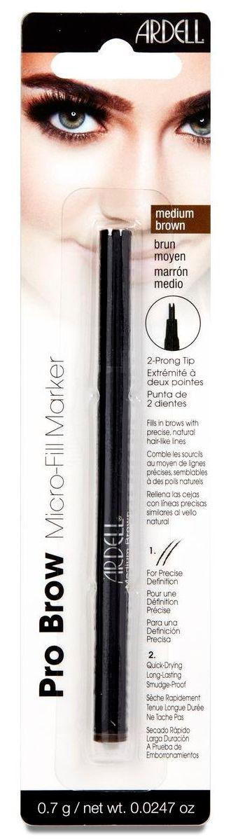 ARDELL Маркер для бровей, коричневый / Micro-Fill Marker Medium Brown 12 г