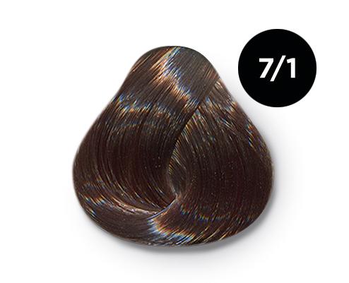 Купить OLLIN PROFESSIONAL 7/1 краска для волос, русый пепельный / OLLIN COLOR 100 мл