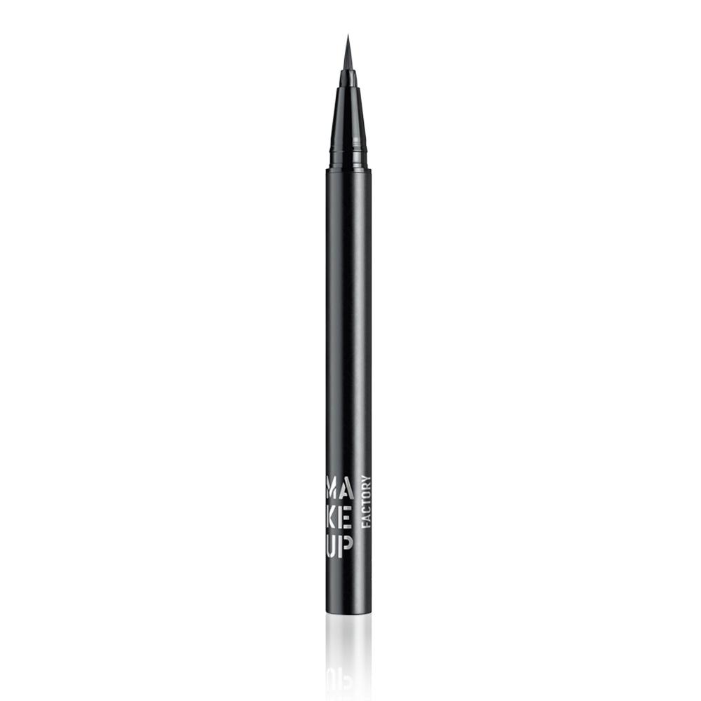 MAKE UP FACTORY Подводка жидкая для глаз, 01 черный / Calligraphic Eye Liner