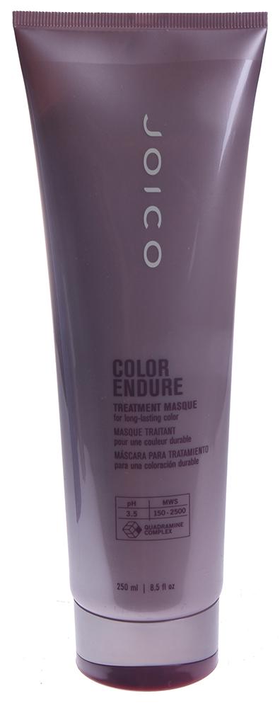 JOICO Маска восстанавливающая для стойкости цвета / COLOR ENDURE 250млМаски<br>Интенсивная маска для сухих (поврежденных), окрашенных волос. Глубокий уход максимально сохраняющий интенсивность цвета. Значительно улучшает стойкость цвета (на 80%). рН 3,5. Минимально изменяет тональность цвета сухих поврежденных окрашенных волос. Улучшает состояние волос, оздоравливая их, что приводит к увеличению силы, эластичности, мягкости и более яркому, интенсивному, блестящему цвету. Способ применения: равномерно распределить по длине вымытых шампунем волос. Оставить на 3-5 минут. Смыть.<br><br>Вид средства для волос: Восстанавливающий