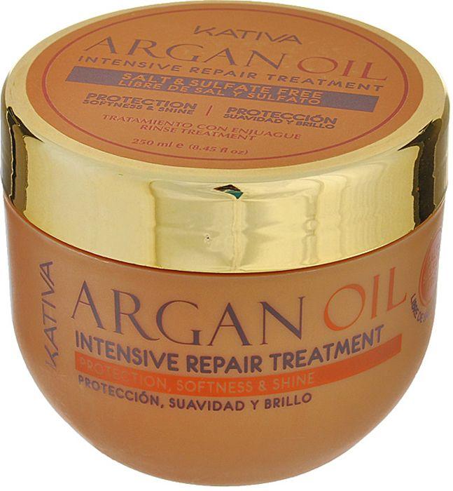 Купить KATIVA Уход интенсивный восстанавливающий увлажняющий с маслом арганы для волос / ARGANA 250 мл