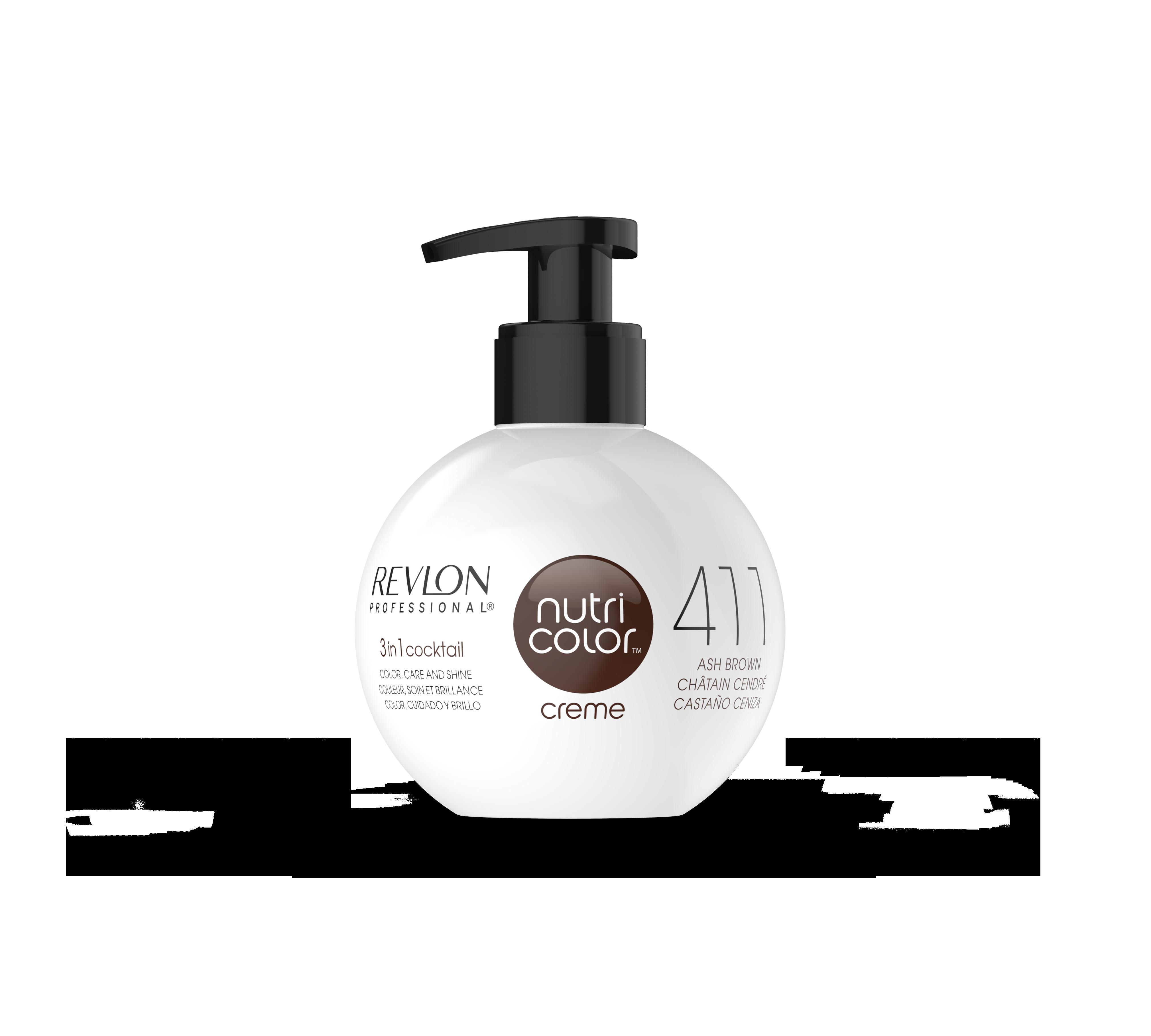REVLON Professional 411 краска 3 в 1 для волос, коричневый / NUTRI COLOR CREME 270 мл