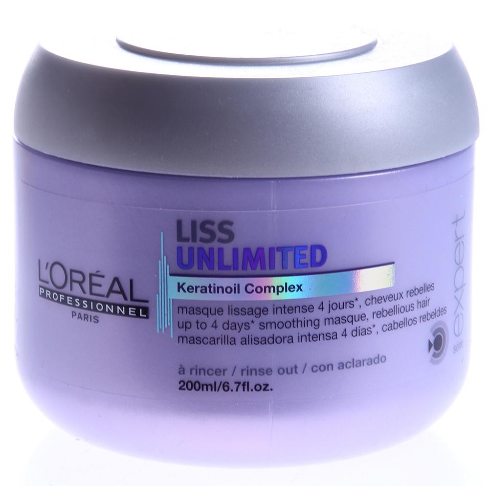 LOREAL PROFESSIONNEL Маска для непослушных волос / ЛИСС АНЛИМИТЕД 200млМаски<br>Маска обеспечивает волосам гладкость, мягкость и эластичность. Благодаря входящему в состав средства кератину волосы становятся более упругими и послушными, легче укладываются в прическу и расчесываются. После использования маски волосы до 4-х дней остаются гладкими и ровными, а при регулярном применении средства обретают силу, блеск и упругость. Активные ингредиенты: кератин, разглаживающие компоненты.Способ применения: равномерно нанесите и вотрите в вымытые и высушенные полотенцем волосы. Распределите по волосам. Оставьте на 2 3 минуты. Тщательно смойте.<br><br>Типы волос: Кудрявые
