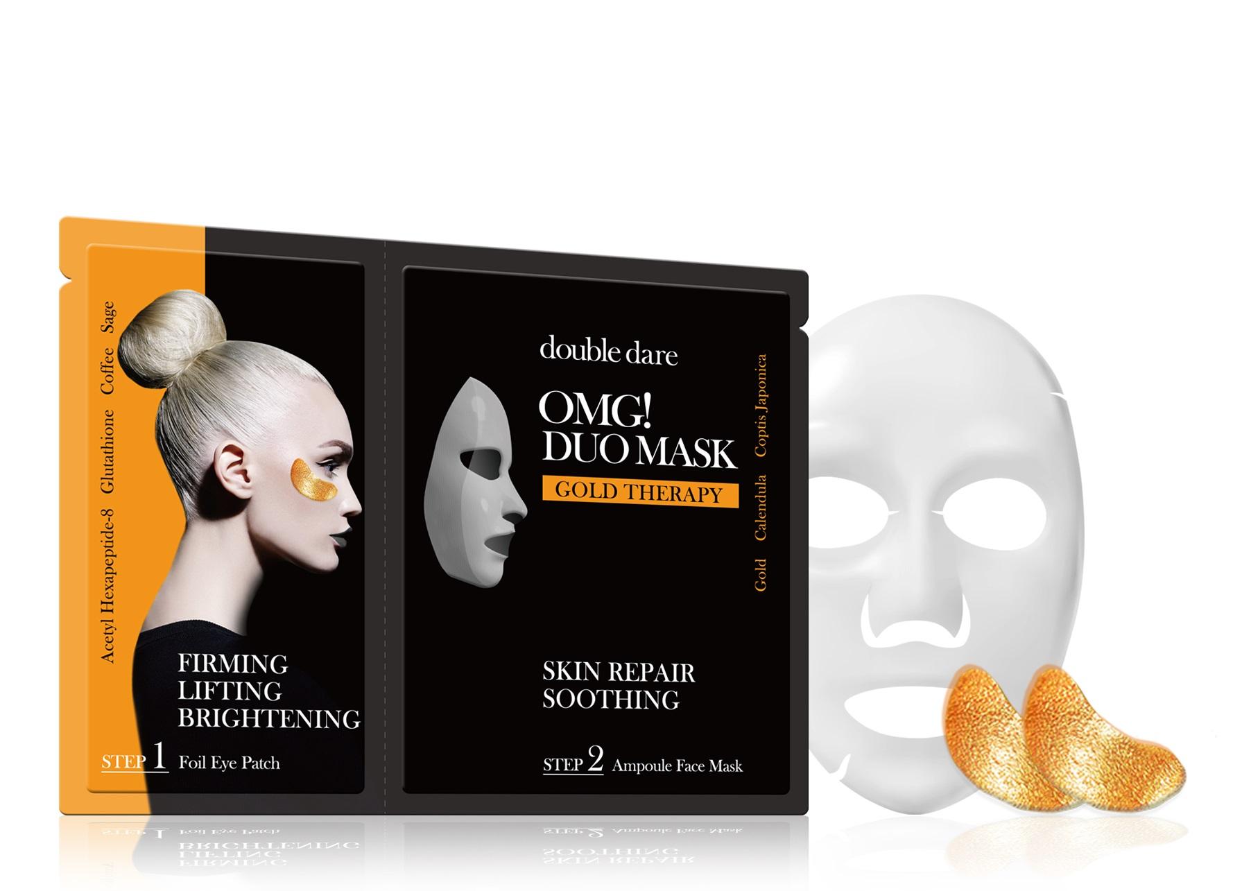 DOUBLE DARE OMG! Комплекс двухкомпонентный из маски и патчей Смягчение и восстановление / DUO 29 г фото