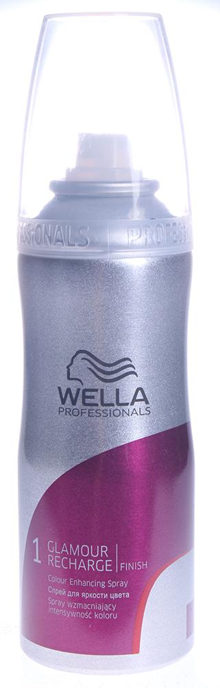 WELLA Спрей для яркости цвета / Glamour Recharge FINISH 200млСпреи<br>Завершающий уход для усиления яркости цвета для окрашенных волос с натуральными компонентами. Спрей обеспечивает естественное укрепление окрашенных волос и защиту от УФ- лучей. Продукт для профессионального ухода за волосами. Данное средство идеально сочетается с продуктами серии Color Recharge. Способ применения: Нанести на влажные или сухие волосы с расстояния 20-30 см по всей длине волос. Уложить волосы по собственному усмотрению.<br><br>Класс косметики: Профессиональная<br>Назначение: Выпадение