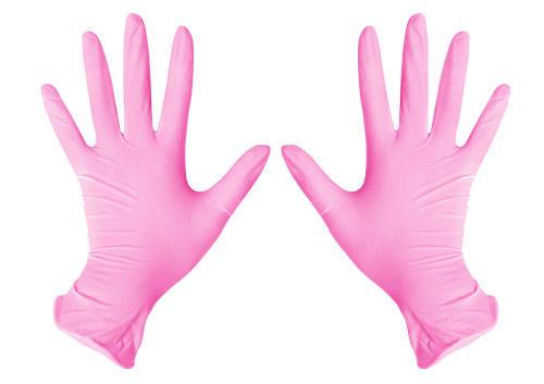 ЧИСТОВЬЕ Перчатки нитриловые розовые L SunViv 100 шт